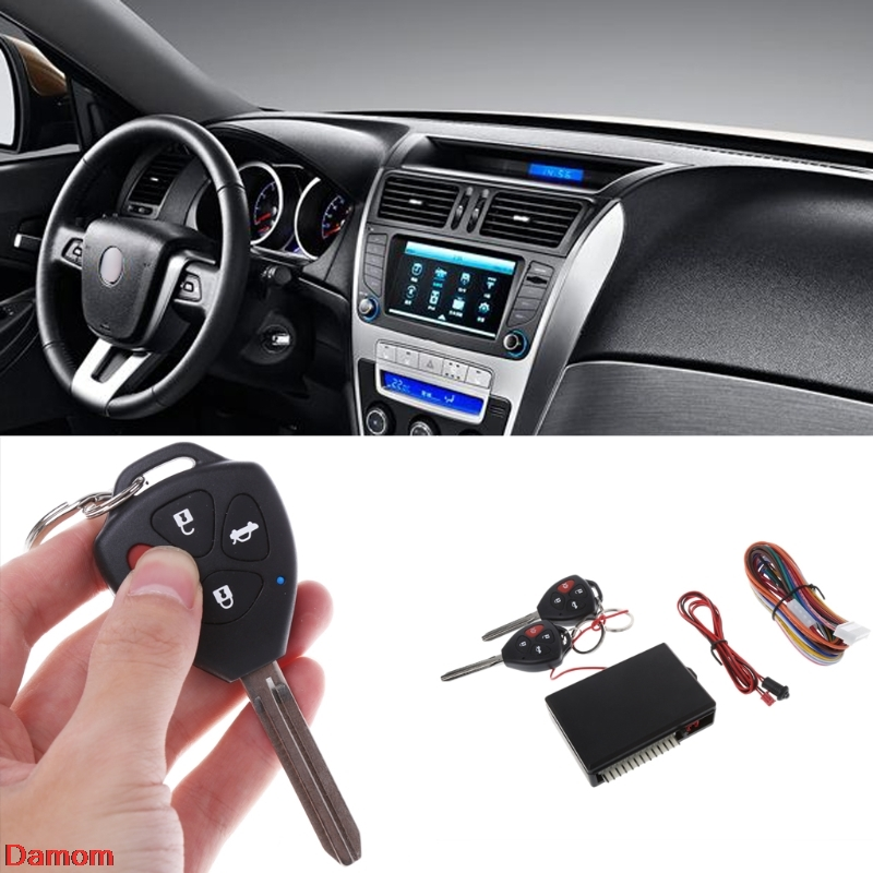 Universal Car Remote Control Central Kit Door Locking Keyless Entry System Safe