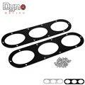 Dyno 2pcs  Rear Bumper Diffuser For Universal Car Rear Bumper Air Diversion Diffuser Panel Black/Silver