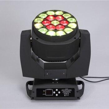 цена Led light source 19*15W big Bee Eyes LED Moving Head Zoom light clay paky wash k10 B EYE rotation lens dmx move head for party онлайн в 2017 году