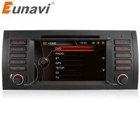 Eunavi один 1 Din 7 dvd плеер автомобиля радио gps навигации для BMW E53 X5 E39 с Canbus Рулевое управление Bluetooth