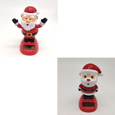 Новинка Солнечная игрушка ed танцующий откидной клапан качающийся головой игрушки для детей солнечная игрушка энергия фигурка игрушки - Цвет: Santa Claus 1PCS