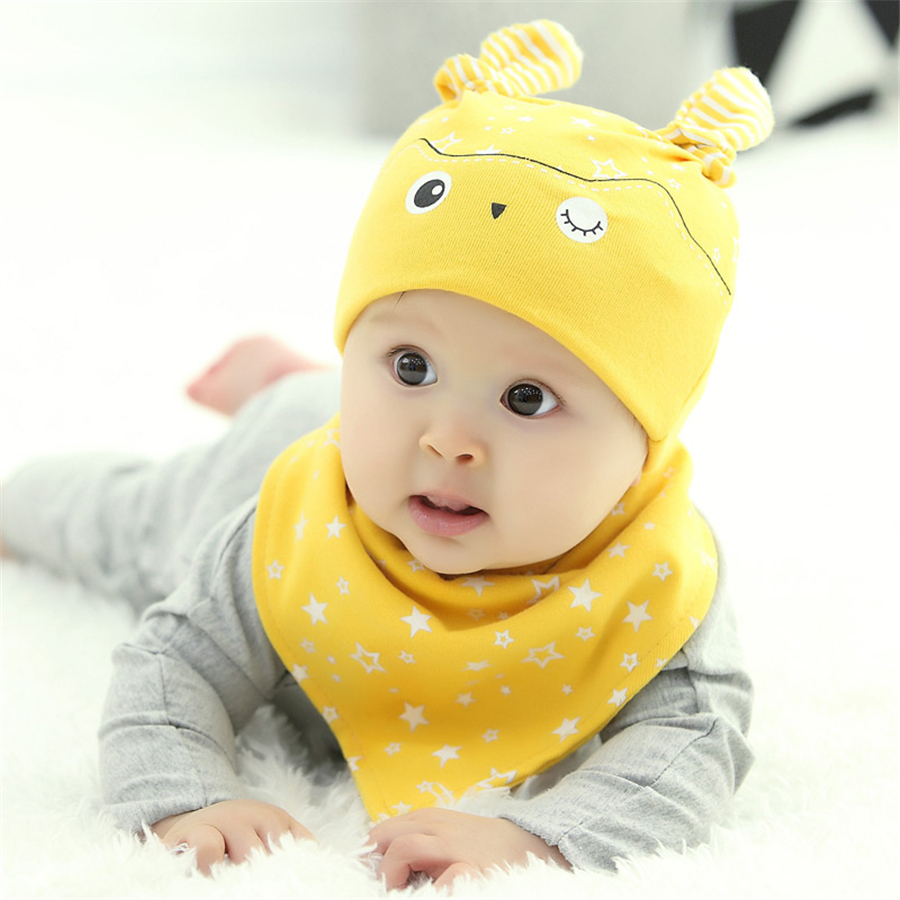 Baby Hats For Children Cotton Caps Toddler Beanie Sleeping