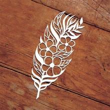 YaMinSanNiO Naifumodo цветок перо металла резки штампы для Крафтовая окраска скрапбукинга трафарет для альбома штамп для теснения с вырезами украшения
