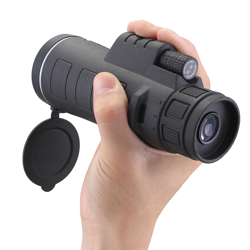 35X50 Hunting Optics Zoom Optical Lens Monocular Telescope Night Vision + Clip +Tripod For Mobile Phone for Outdoor Camping