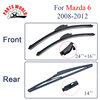 KIT Silicone Rubber Windscreen Front And Rear Wiper Blades For Mazda 6 2008 2012 Windshield Wiper