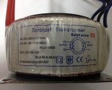 Бесплатная Доставка Полный медный провод полная мощность 50 Вт двойной 12 В Энтузиастов для LM1875T TDA2030A Тороидальный Трансформатор