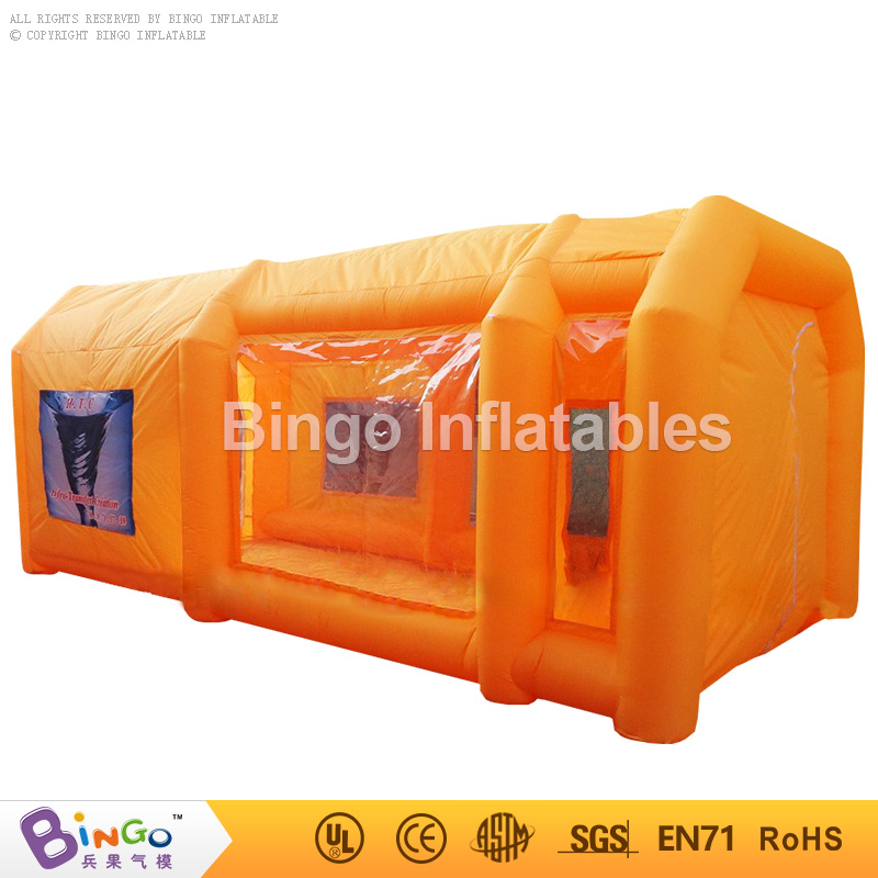 6m inflatable spray booth inflatable car spray booth inflatable paint booth tent with orange color BG-A0830 toy tent