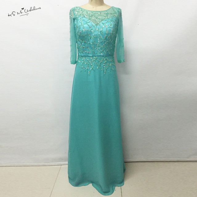 Turquoise Long Evening Dress 2017 New Arrival Formal Mother of the ...