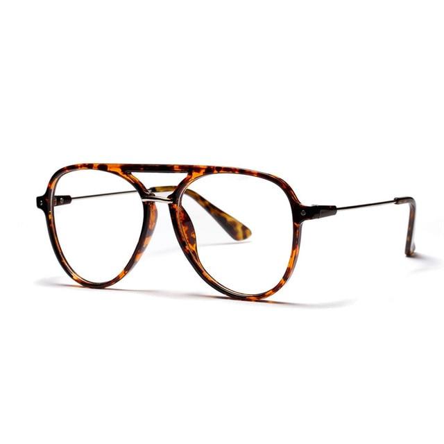 2652654a78c Clear Lens Eye Glasses Frames For Men Women Retro Vintage Oval Eyeglasses  Titanium Fake Glasses Transparent Myopia Eyewear