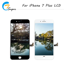 ET-Super Black and white For iphone 7 plus LCD Display Complete 3D Touch Screen Digitizer Replacement Top AAA Quality Free Ship