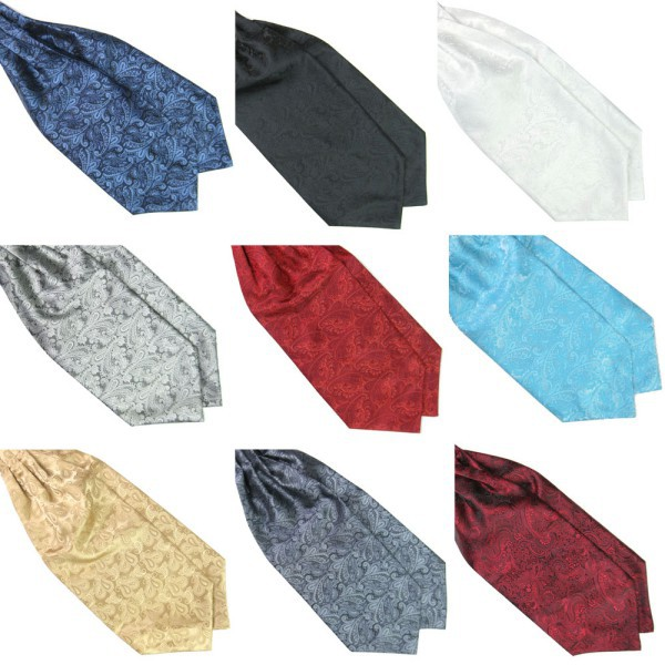 Hot Hot Ascot Tie Cravat Mens Neck Tie Satin Self Tie For Wedding