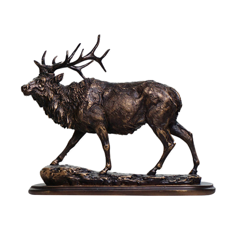 American retro reindeer ornaments crafts Nordic simulation desktop decoration Home Furnishing living room TV cabinet library