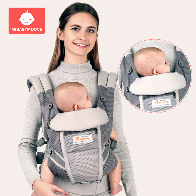 0-48 Ergonomic Baby Carrier Backpack Infant Baby Hipseat Carrier Front Facing Ergonomic Baby Kangaroo Wrap Sling For Baby Travel