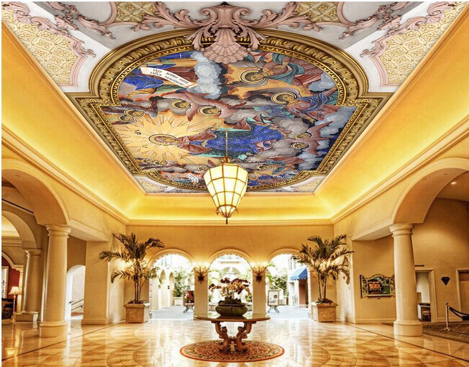 3d Stereoscopic Mural Wallpaper Angel Wallpaper Mural Ceilings 3d Stereoscopic Wallpaper