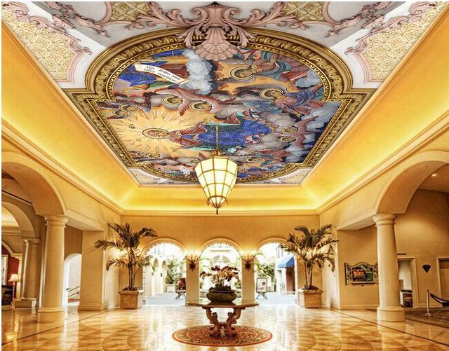 Aliexpresscom Buy Angel wallpaper mural ceilings 3d stereoscopic