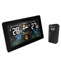 US/EU Plug Digital Weather Station forecast clock indoor Thermometer hygrometer pressure display Temperature Humidity Meter