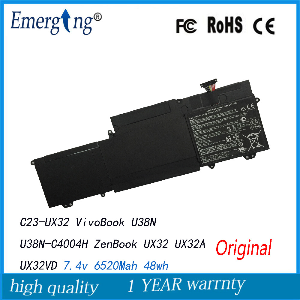7.4V 48Wh Original New Laptop Battery for ASUS Vivobook U38n U38n-c4004h Zenbook Ux32vd Ux32a C23-ux32 все цены
