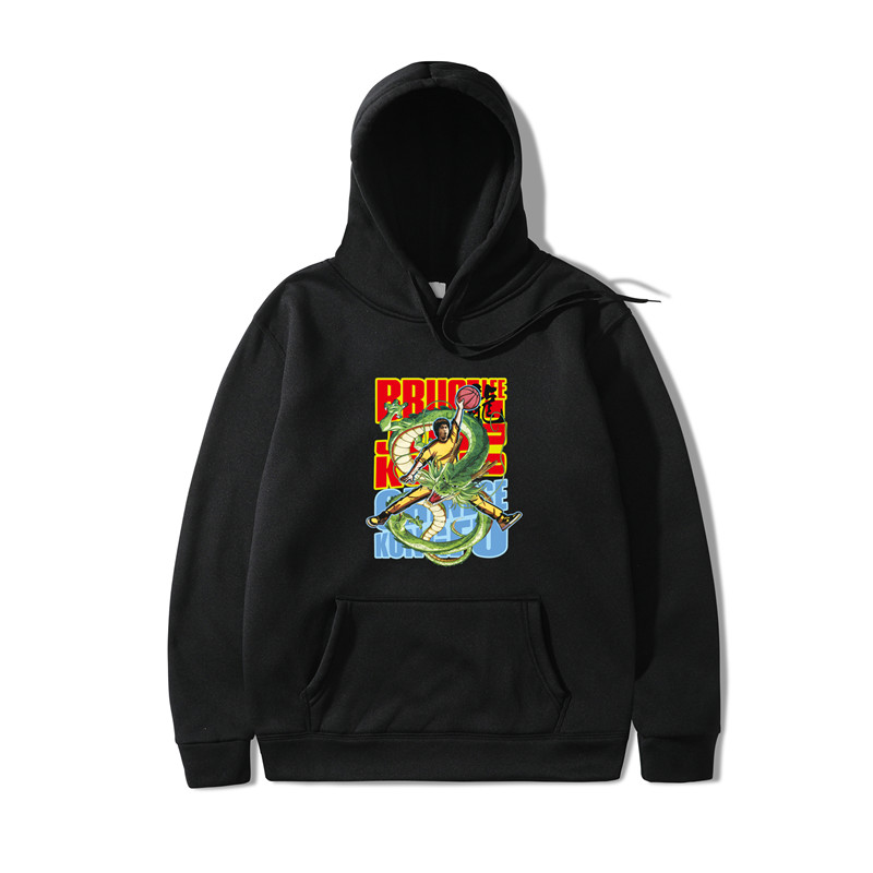 2019 Chinese Dragon Printing Hoodies Men Pullover  Sweatshirt Hoodie Men/Women Autumn Harajuku Black Hoodies