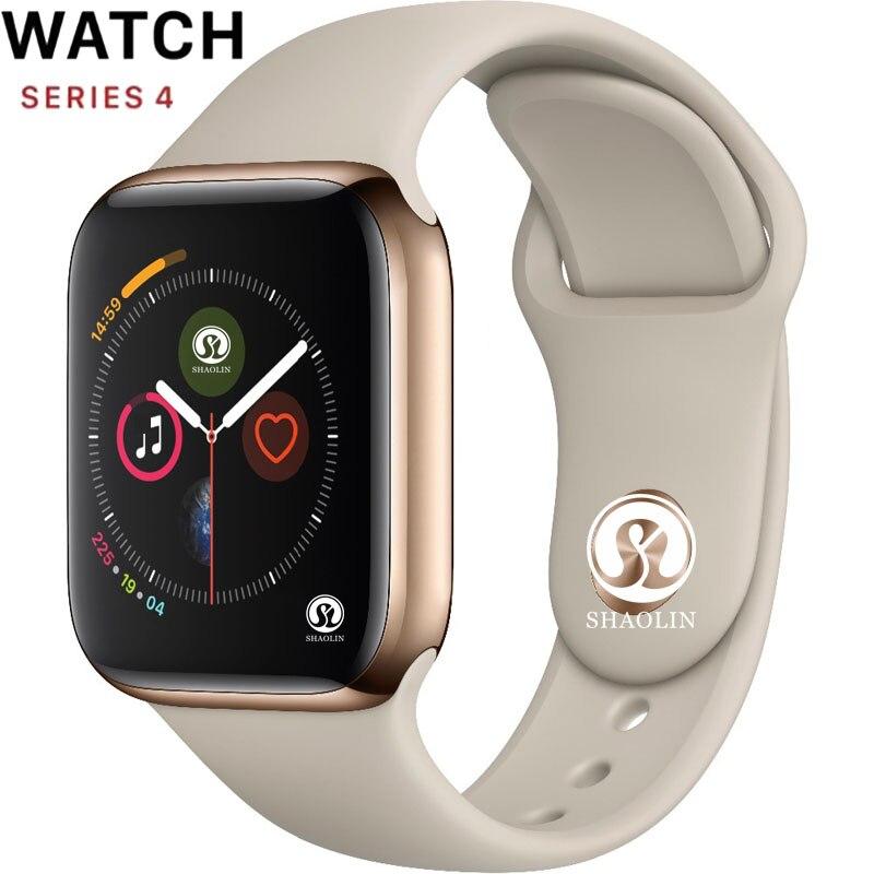 50% de réduction 42mm montre intelligente série 4 horloge Push Message connectivité Bluetooth pour téléphone Android IOS apple iPhone 6 7 8 X Smartwatch