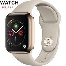 Скидка 50% 42 мм смарт часы серии 4 Push сообщение Bluetooth подключение для телефона Android Apple IOS iPhone 6 7 8 X Smartwatch