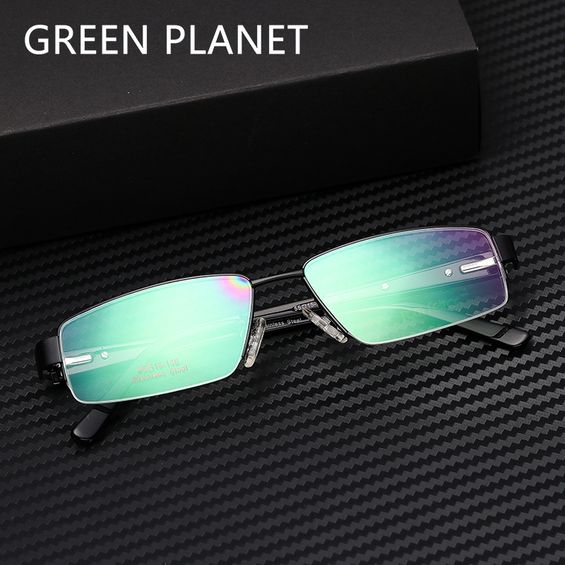 Men Metal Glasses Frame Myopia Metal Decoration Clear Frame Modern Oversized Reading Optical Eyewear #TF2001