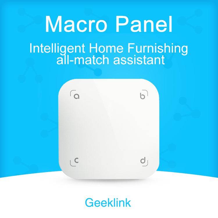 Geeklink Scene Panel  4 Gang Touch Scene Switch Smart Home Scenario Control Alarming Apparatus Feedback|Smart Remote Control|   - title=
