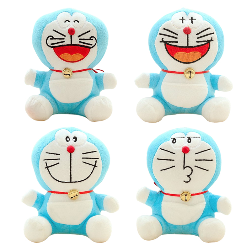 Selling Item 20cm 4 Expressions Plush Doraemon Stuffed Animal Soft Toy Baby Toy kawaii Gift For Kid Free Shipping stuffed animal 120 cm cute love rabbit plush toy pink or purple floral love rabbit soft doll gift w2226