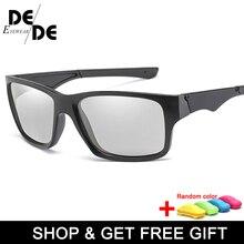 The New Mens Driving Photochromic Sunglasses Men Polarized Discoloration Sun glasses Transition Anti-Glare with box
