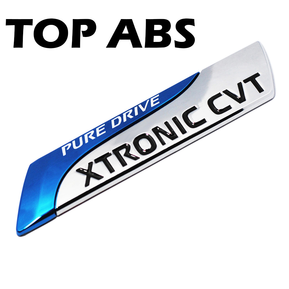 For Nissan ABS Pure Drive XTRONIC CVT Nismo Emblem Badge Tail Sticker Qashqai X-Trail Juke Teana Tiida Sunny Note Car Styling car styling luminous temporary parking card phone number plate sucker car sticker for nissan qashqai x trail tiida juke note
