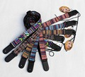 ukulele strap, guitar straps,cotton material with leather head