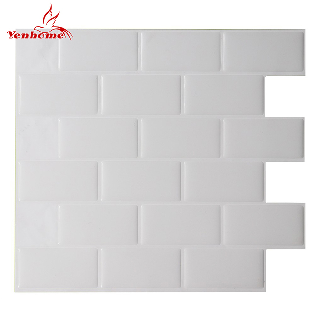 Us 699 30 Off3d Vinyl Brick Waterproof Self Adhesive Wallpaper Peel And Stick Mosaic Tile Wall Sticker Kitchen Bathroom Home Decor Wall Decal In