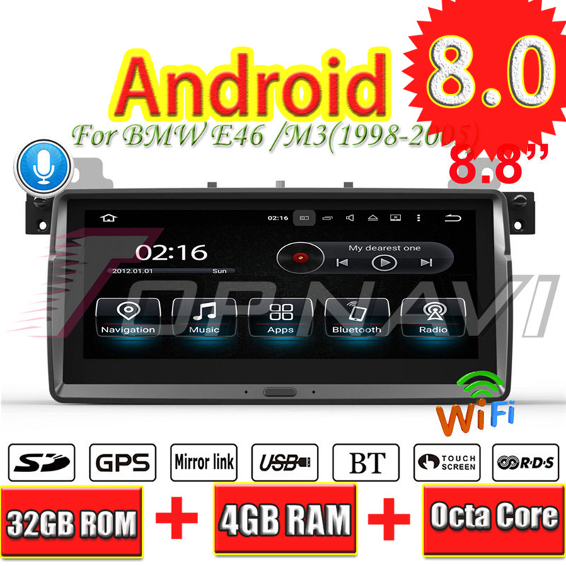 Topnavi Android 8.0 Car PC Player Radio For BMW E46/M3