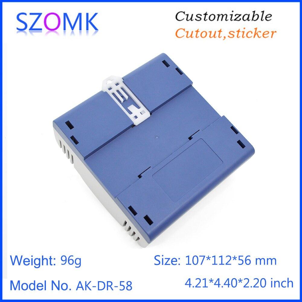 szomk plastic din rail enclosure PLC plastic electronics instrument housing din rail device box (9)