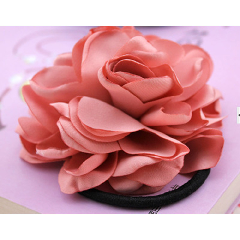 New Women Hair Band Rope Elastic Rose Flower Ponytail Holder Scrunchie  Accessories DIY Accessories-in Women s Hair Accessories from Apparel  Accessories on ... 91f3e129a3a