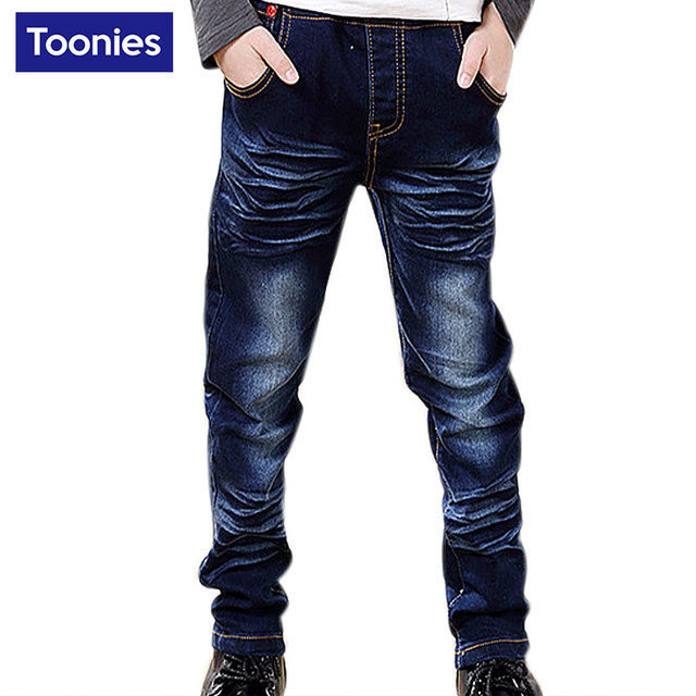 High Quality Brand New 2017 Spring Autumn Boys Fashion Denim Pants Kids Trouser New Design Boys Jeans Children Clothing