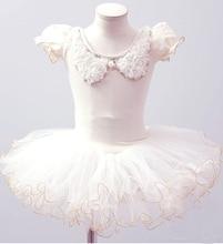 Pakaian Ballet Girl Kanak-kanak Tutu Dance Costume Petal Sleeve Girls Lace Dresses Floral Kids Girl Ballerina Dress