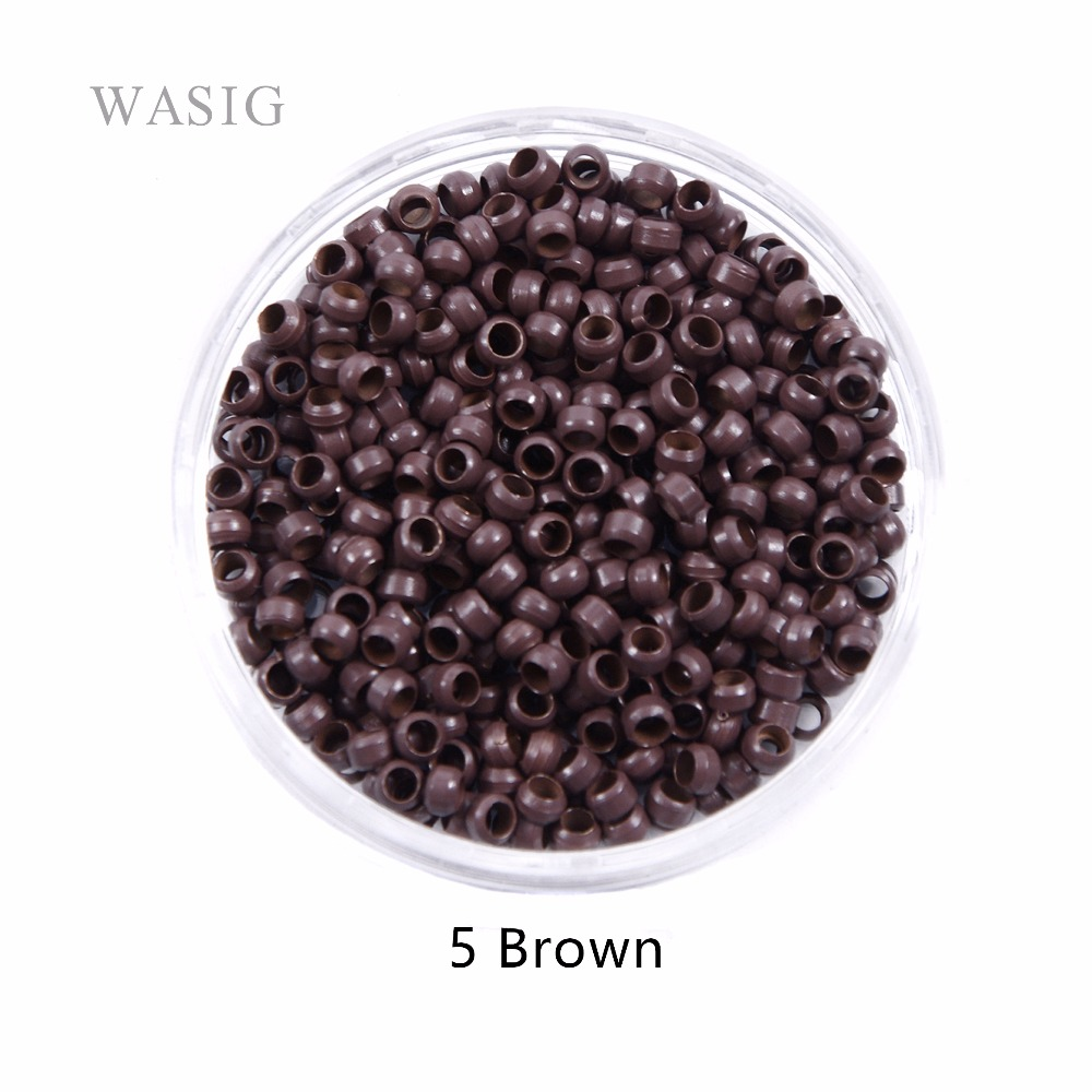 500pcs 2.5mm Copper Nano Ring Beads for Nano Rings Hair Extensions 1# Black Color