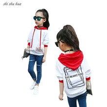 цены на Girls long-sleeved T-Shirt Clothes Spring Autumn Children Clothing Child Jacket Casual Striped Sweatshirt 2018 New Kids Clothing  в интернет-магазинах