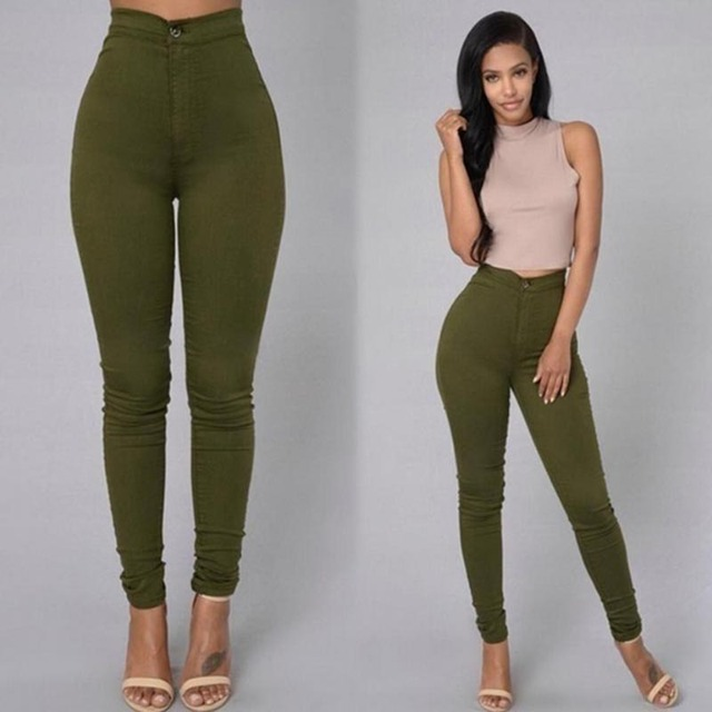 Sexy leggings for female women's fashion fitness leisure comfortable high waist stretch pencil pants jeans leggins 9z