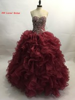 Quinceanera Dress Ball Gown Beaded Rhinestones Long Sweet 16 Years Party Gowns Vestido De 15 Anos