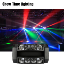 цена на Mini disco LED dj RGBW Moving Head Light LED Spider Beam Stage Lighting 8*10W Spider Light Good for DJ Nightclub Party