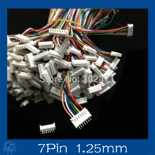 Mini. Micro  1.25 T-1 7-Pin Connector W/.Wire X 10 Sets.7pin 1.25mm
