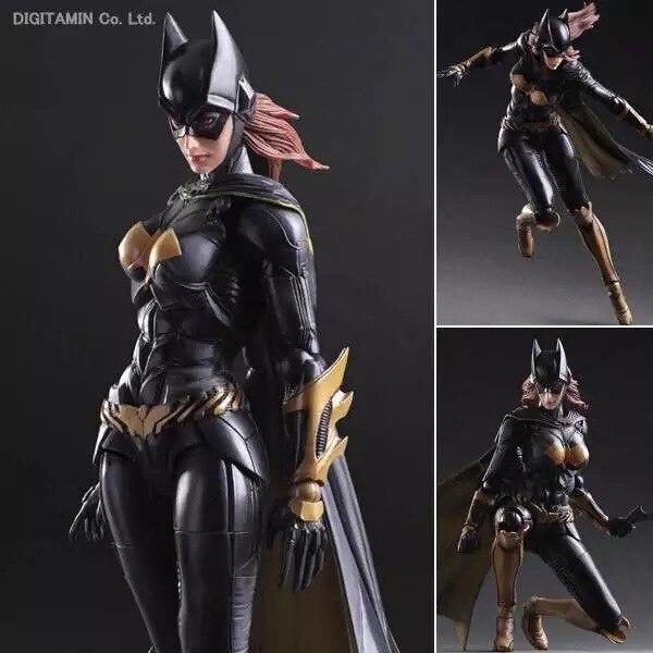 Играть искусств Кай фигурки героев Batgirl Бэтмен рыцарь Аркама Бэтгерл вариант ПВХ фигурки героев Colletibles модель игрушки 25 см KT2960