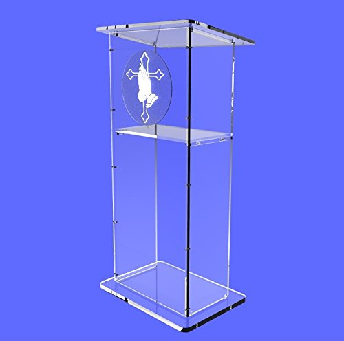 """Fixture Displays Clear Acrylic Lucite Podium Pulpit Lectern 45"""" Tall"""