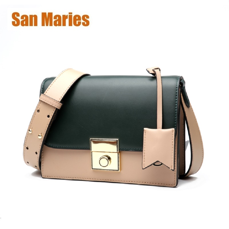 San Maries Luxury Women Bags Designer Crossbody Messenger Bags Purse Sling Shoulder Bag Cowhide Leather Bolsa Feminina ClutchSan Maries Luxury Women Bags Designer Crossbody Messenger Bags Purse Sling Shoulder Bag Cowhide Leather Bolsa Feminina Clutch