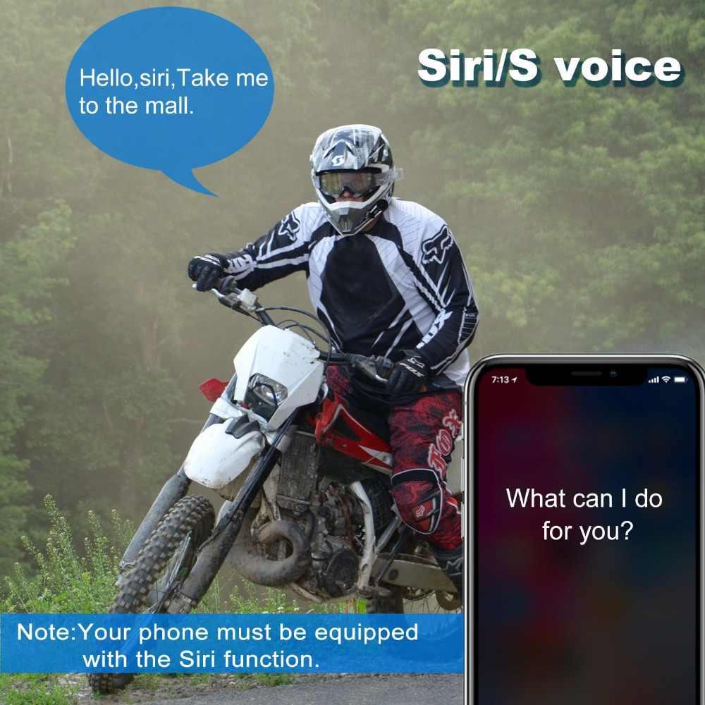 2 pièces V6 Plus 6 coureurs 1200m Bluetooth Interphone casque sans fil Intercomunicador Interphone BT Duplex Interphone FM LED