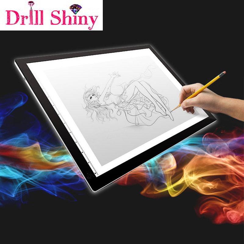 Diamond Painting Accessories Ultrathin 3.5mm <font><b>A4</b></font> <font><b>LED</b></font> <font><b>Light</b></font> <font><b>Tablet</b></font> <font><b>Pad</b></font> Apply to EU/UK/AU/US/USB Plug Diamond Embroidery image