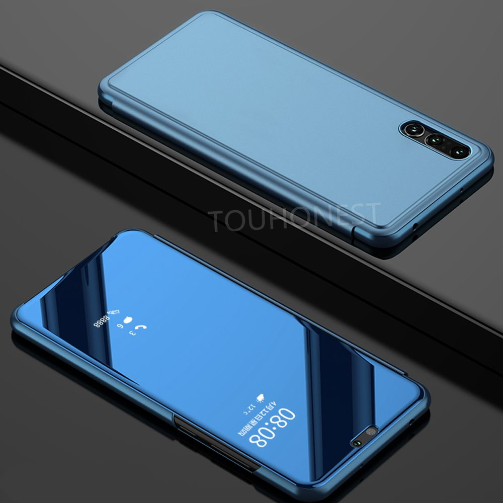 hot sale online 9fa98 72ae0 US $2.37 5% OFF|For Huawei P20 lite Mirror Clear View Flip Smart Cover case  For Huawei P20 Pro Honor 10 V10 9 lite P Smart Honor 8 lite Nova 3 i-in ...
