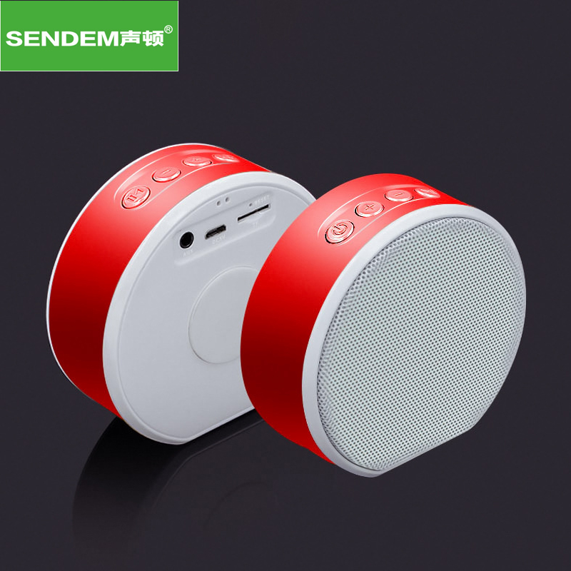 SENDEM A61 Wireless Portable Paint exterior Bluetooth Speaker Mini Subwoofer Handsfree Speaker Support TF card for IPhone PC