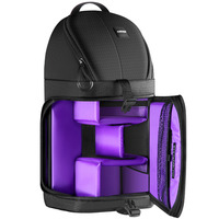 Neewer Professional Sling Camera Storage Bag Durable Waterproof Black Carrying Backpack Case For DSLR Camera Purple